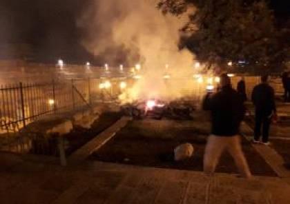السيطرة على حريق شبّ على سطح مصلى المرواني بالأقصى