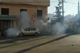 اصابات تلاميذ ومواطنين بالاختناق جنوب الخليل