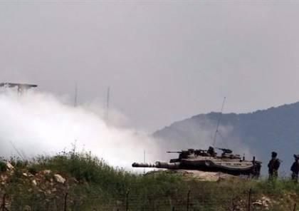 جيش الإحتلال يلقي قنابل دخانية في محور حدودي مع لبنان