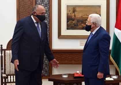 وصول وزير الخارجية المصري الى رام الله للقاء الرئيس