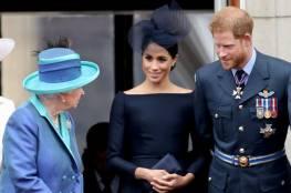 هاري وميغان إلى جانب الملكة إليزابيث في آخر التزام ملكي لهما
