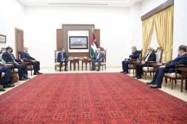 تفاصيل اجتماع الرئيس عباس مع الوفد الامني المصري بشأن غزة