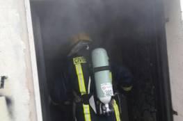 إصابة فتاة بحريق منزل في جنين