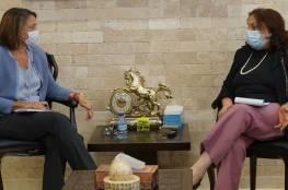وزيرة الصحة تبحث مع منسقة الأمم المتحدة للشؤون الإنسانية عددا من القضايا الصحية الإنسانية
