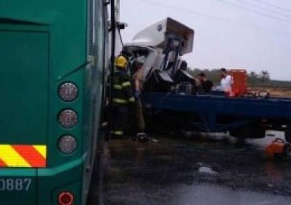 أريحا: مصرع شاب فلسطيني بحادث سير مع حافلة للمستوطنين