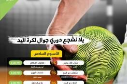 غزة : انطلاق الاسبوع السادس لدوري جوال لكرة اليد