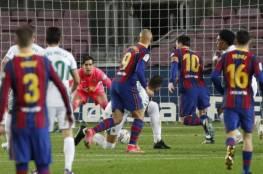 """برشلونة يفوز على إلتشي بثلاثية و ميسي ينفرد بصدارة هدافي """"الليغا""""...فيديو"""