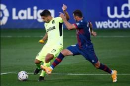 سواريز يهدر فرصة الفوز لاتليتكو مدريد ويقع في فخ التعادل السلبي