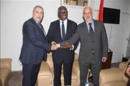 وزير الخارجية الغيني يستقبل وفدا فلسطينيا مختصا بأمن المعلومات