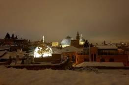 فلسطين تكتسي بالثلوج ..صور وفيديو