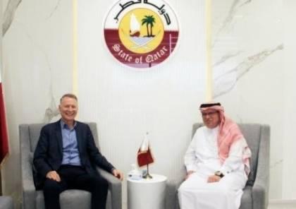 تفاصيل لقاء السفير العمادي مع بشار المصري بغزة