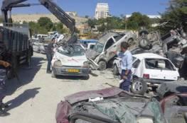 ضبط واتلاف 23 مركبة غير قانونية والقبض على 27 مطلوبا في نابلس