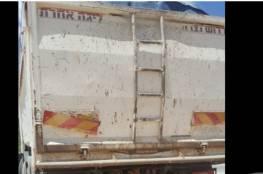 ارجاع شاحنة إسرائيلية محملة بنفايات في قلقيلية