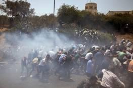 الاحتلال يقمع مسيرة مطالبة باسترداد جثامين 3 شهداء في بدّو شمال غرب القدس