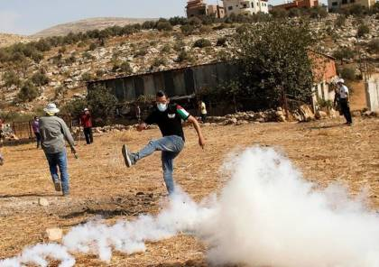 نابلس: عشرات الاصابات خلال قمع الاحتلال مسيرة بيت دجن