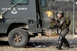 اندلاع مواجهات بقرية دير أبو مشعل عقب اقتحام قوات الاحتلال