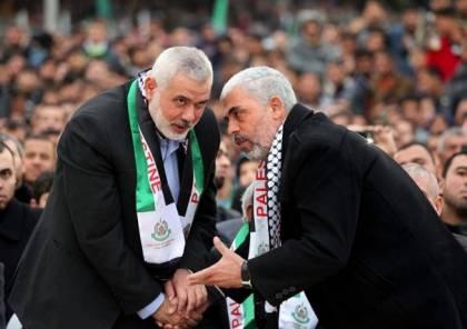 صحيفة عبرية تزعم : السنوار يدعم هنية لرئاسة حماس لهذا السبب ..