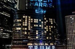 """""""بفعل فاعل"""".. اسم بايدن يسطع على برج ترامب"""