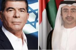 """وزيرا خارجية الإمارات وإسرائيل يجريان مكالمة هاتفية"""": دشنا خطوط الاتصال"""