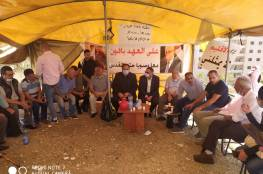 كوادر وقيادات حركة فتح يواصلون إعتصامهم أمام مقر التعبئة والتنظيم برام الله.