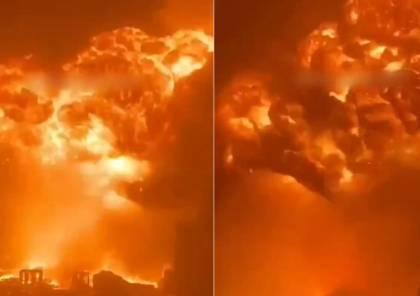 شاهد : فيديو يوثق حريقا ودمارا كبيرا في مدينة إسدود نتيجة صواريخ غزة