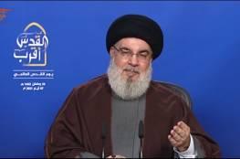 """تحدث عن صاروخ ديمونا.. نصر الله: """"إسرائيل"""" مأزومة.. ودخول غزة إلى معادلة القدس تطور مهم"""