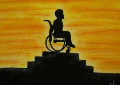 رسام فلسطيني يتحدى الإعاقة بريشة الرسم