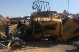 حادث سير مع حافلة للمستوطنين يودي بحياة 6 اشخاص من عائلة واحدة في رام الله