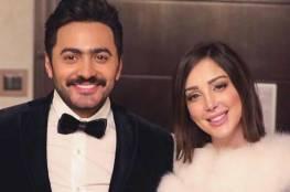 فيديو يكشف مفاجأة تامر حسني الرومنسية لزوجته