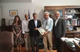السفير طوباسي يبحث التعاون المشترك بين دولة فلسطين واليونان