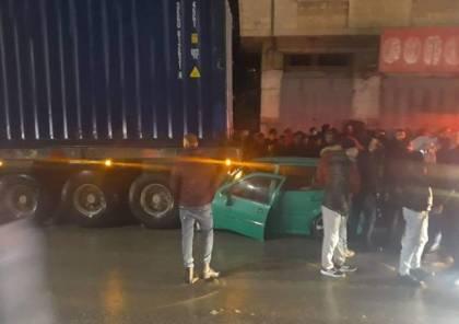 3 إصابات إحداها خطيرة جراء حادث سير في نابلس