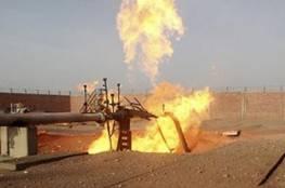 انفجار خط غاز في سيناء ومحاولات للسيطرة على الحريق