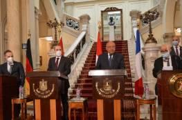 القاهرة: محادثات الرباعي.. اتفاق على استئناف السلام وتأكيد حل الدولتين
