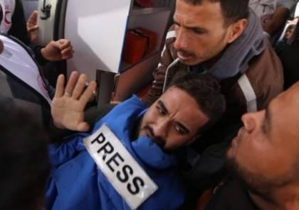 لجنة دعم الصحفيين: الاحتلال يتعمد استهداف الصحفيين أثناء تغطيتهم لمسيرة العودة