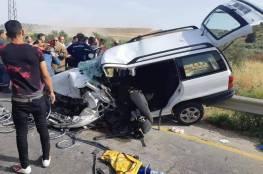 صور: مصرع شقيقين في حادث سير مروع على طريق نابلس طولكرم