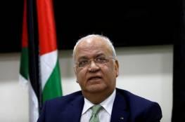 عريقات يطالب الدول العربية بقرض مرحلي بقيمة 100 مليون دولار شهرياً