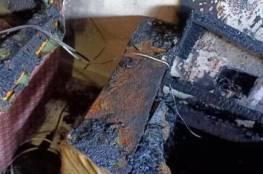 إنقاذ ربة منزل وطفليها من حريق نشب بمنزلهم في نابلس