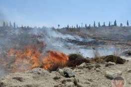 زجاجة حارقة تتسبب بحريق في مستوطنة جنوب بيت لحم