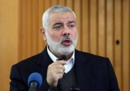 هنية يهاتف وزير الخارجية الإيراني للتعزية بقاسم سليماني