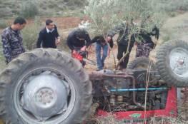 مصرع فتى جرّاء انقلاب جرار زراعي شرق نابلس