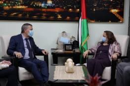 وزيرة الصحة تبحث مع المفوض العام للأونروا تعزيز التعاون
