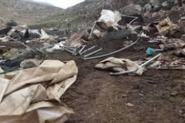 هدم خيام ومصادرتها في خربة طانا