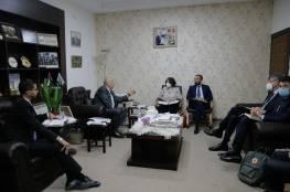 الرجوب يطلع نائبة وزير الخارجية والتعاون الدولي الإيطالي على آخر المستجدات السياسية