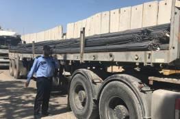 """بدون آلية """"السستم GRM"""".. اسرائيل تسمح لأول مرة بإدخال حديد البناء إلى غزة"""