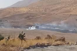 8 إصابات خلال مواجهات مع الاحتلال على حاجز الحمرا