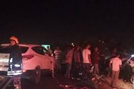 مصرع مواطنة واصابة 4 بحادث سير مروع شرق قلقيلية