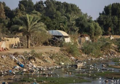 التحذير من كارثة بيئية تطال وداي غزة بسبب النفايات الصلبة