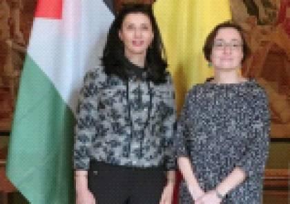 جلسة مشاورات سياسية بين فلسطين وبلجيكا