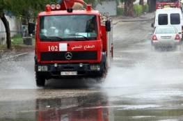 الدفاع المدني يخمد حريق نشب في محزن للمواد الغذائية شمال قطاع غزة