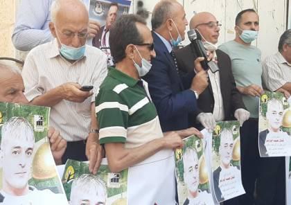 جنين: وقفة دعم واسناد للأسير المريض أبو وعر والحركة الأسيرة